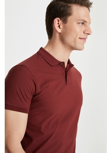 Damat Damat Lacivert 60/2 Merserize T-Shirt Taba